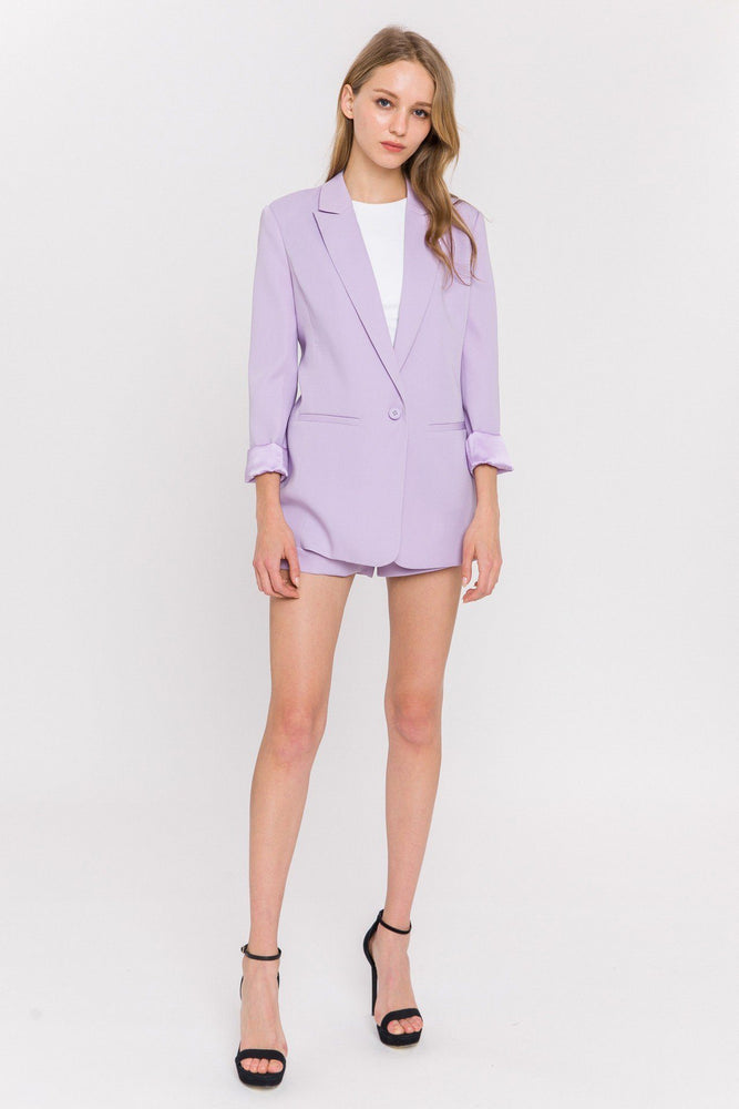 CLOTHING - Tailored Basic Shorts - LILAC