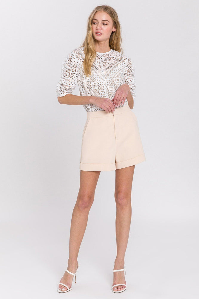 CLOTHING - Tailored Basic Shorts - IVORY