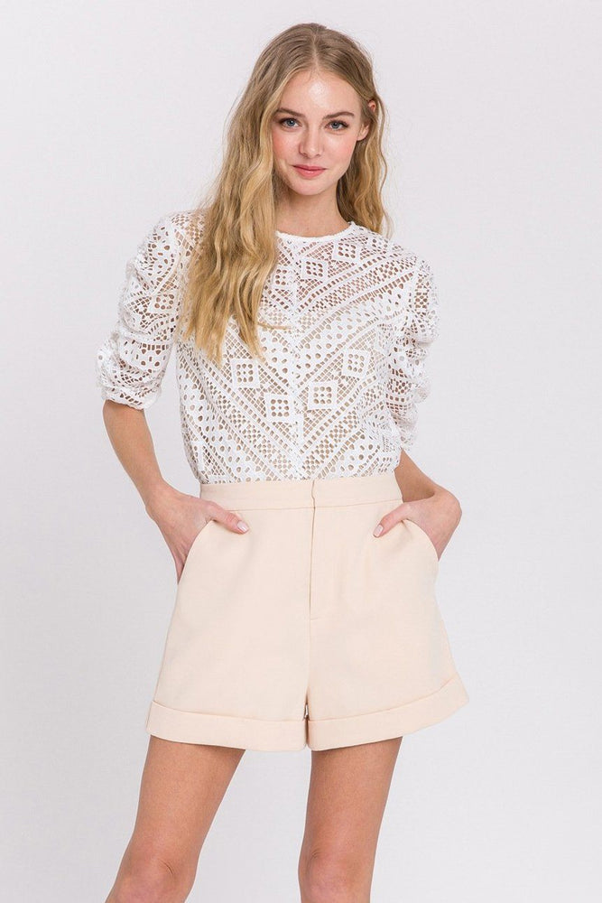 Tailored Basic Shorts - IVORY