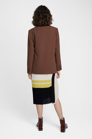 Load image into Gallery viewer, Brown Side Belted Blazer