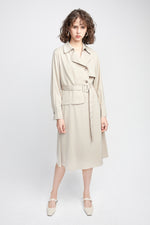 Oatmeal Trench Coat