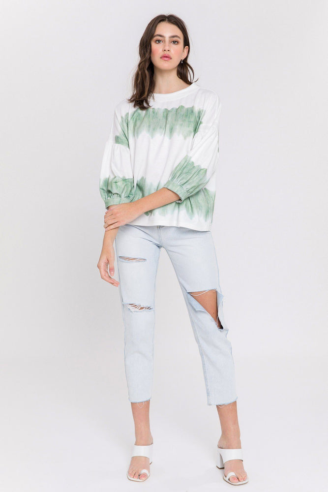 CLOTHING - Tie Dye Knit Top