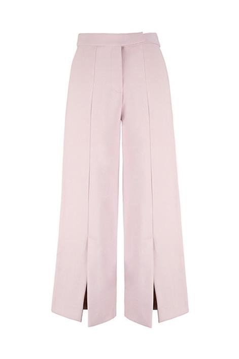 Pink Front Slit Trousers