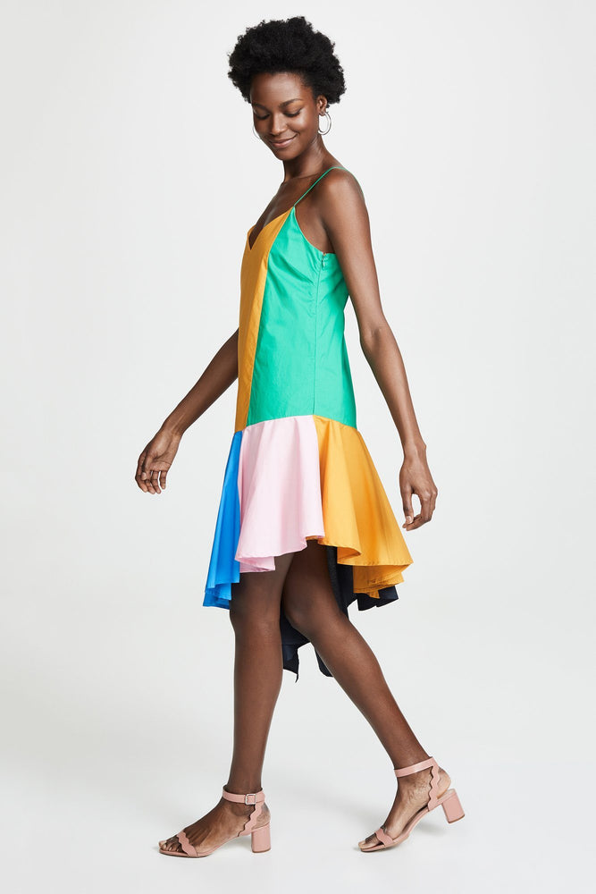 CLOTHING - Colorblock Midi Dress