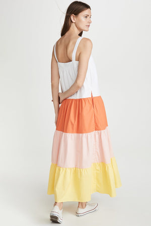 Load image into Gallery viewer, Colorblock A-line Sleeveless Dress