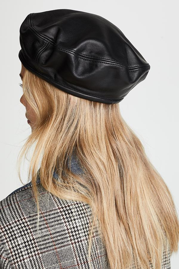 ACCESSORIES - Leather Beret