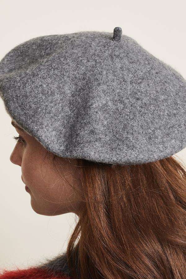Load image into Gallery viewer, Classic wool beret-Charcoal