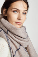 ACCESSORIES - Box Windowpane Scarf-Blush