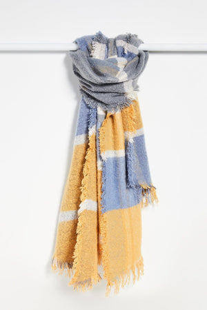 Load image into Gallery viewer, Weekend Plaid Scarf-Saffron