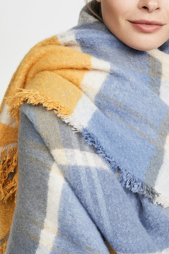 ACCESSORIES - Weekend Plaid Scarf-Saffron