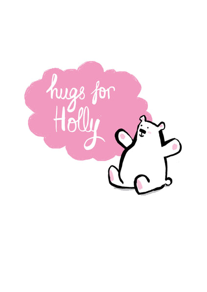 Pink Hugs - Personalised