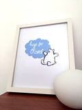 Blue Bear Hug - Personalised