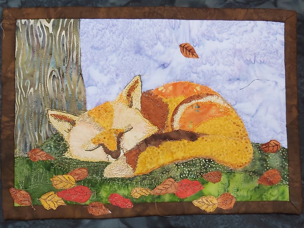 Mr Fox Journal Quilt Kit or Pattern