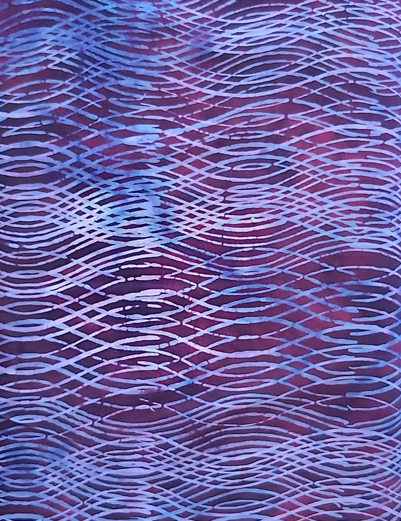 Purple Waves Hoffman Bali Batik