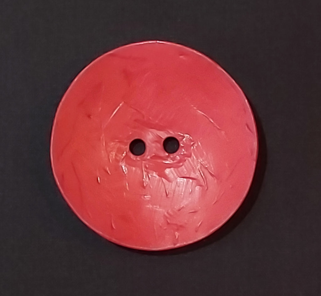 Large Circle Coconut Button - Red