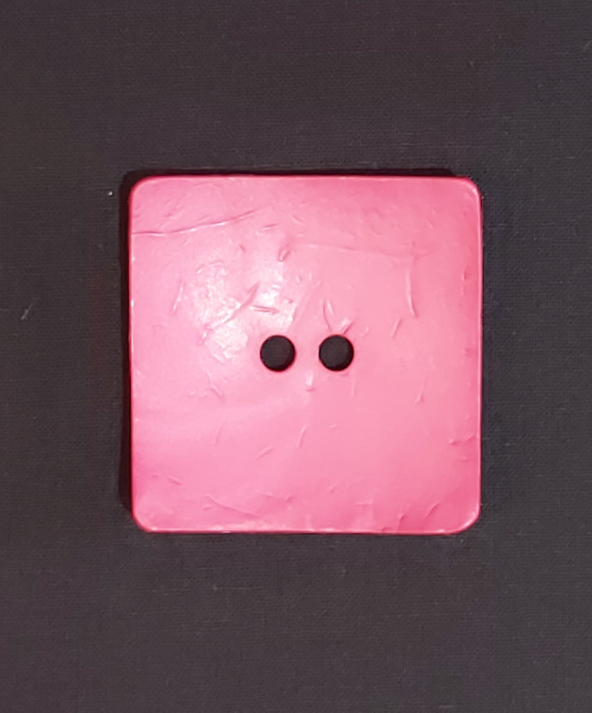 Square Coconut Button - Pink