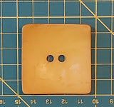 Square Coconut Button - Mustard