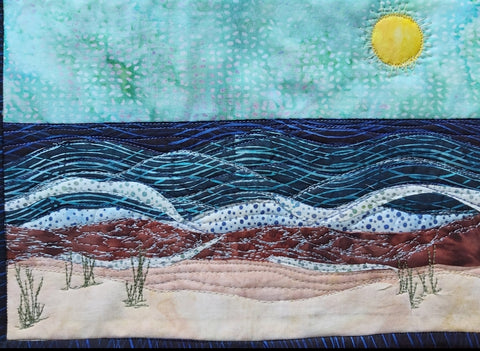 A Day at the beach Journal Quilt Kit or Pattern