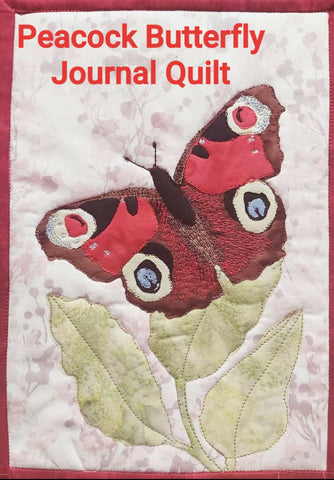 Peacock Butterfly Journal Quilt Kit or Pattern