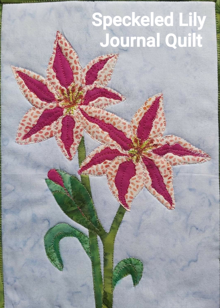 Speckled Lily Journal Quilt Kit or Pattern