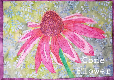 Cone Flower Journal Quilt Kit or Pattern