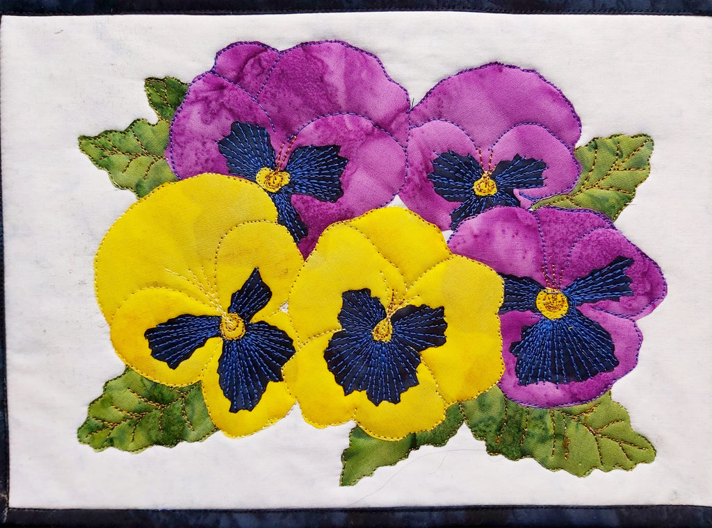 Pansies Journal Quilt Kit or Pattern