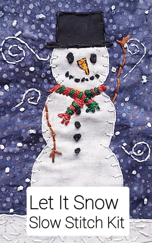 Let It Snow Slow Stitch Kit and pattern