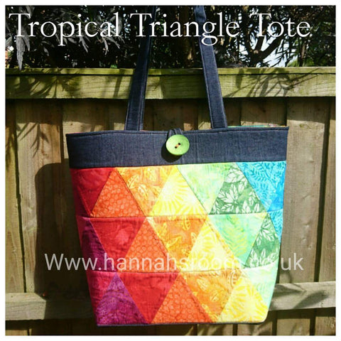 Triangle Tote Bag kit / PATTERN ONLY  SALE