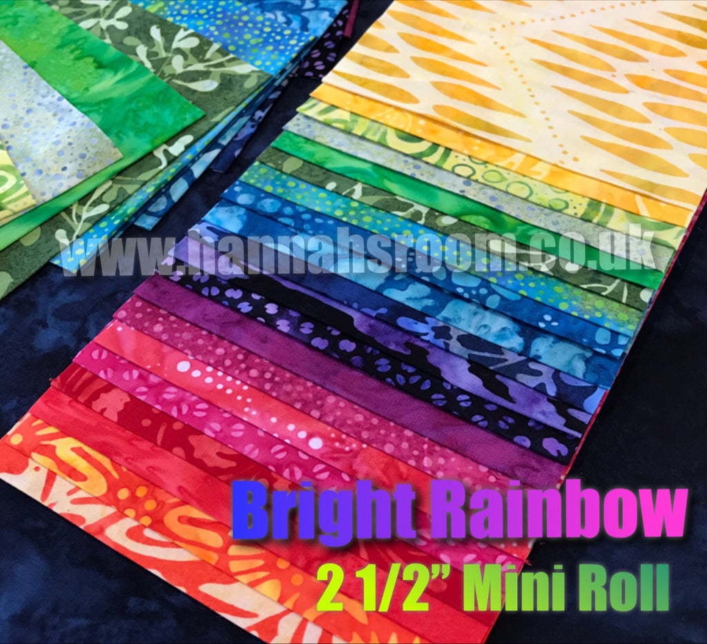 "Bright Rainbow 2.5""  x WOF Mini Roll"