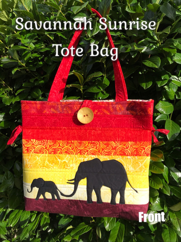 Limited Edition Helen's Tote Bag - Savannah Sunrise  Pattern only or KIT AVAILABLE*