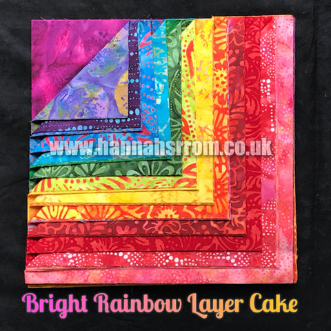 "Bright Rainbow 10"" Layer Cake"