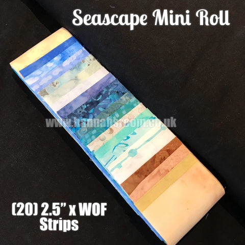 "Seascape Mini Roll (20) 2.5"" x WOF"