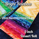 "Bright Rainbow 5"" x WOF Dessert Roll"