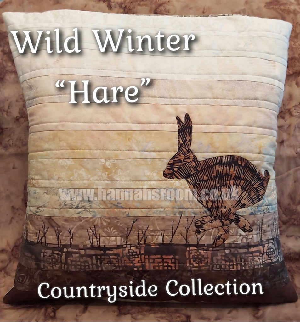 "Wild Winter ""Hare"" Cushion Kit or Pattern"