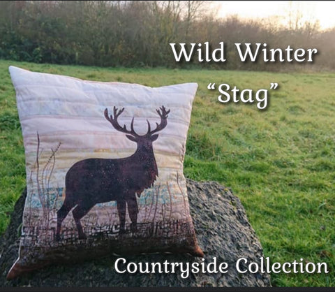 "Wild Winter ""Stag"" Cushion Kit or Pattern"