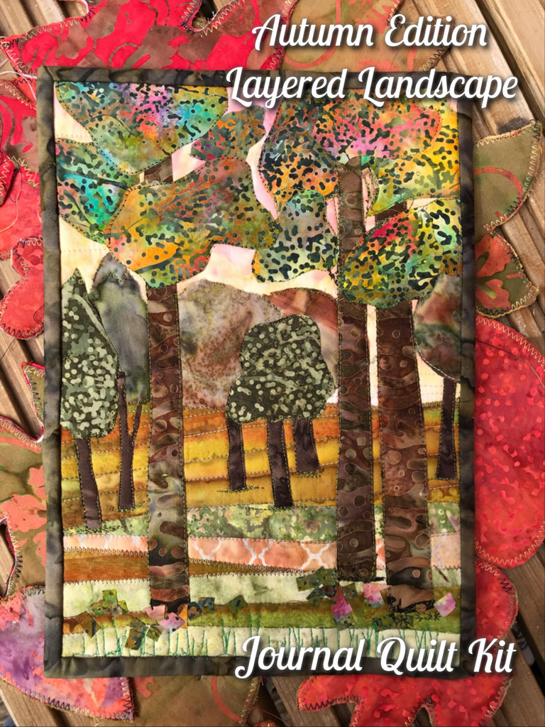 Autumn Edition - Layered Landscape Journal Quilt Kit