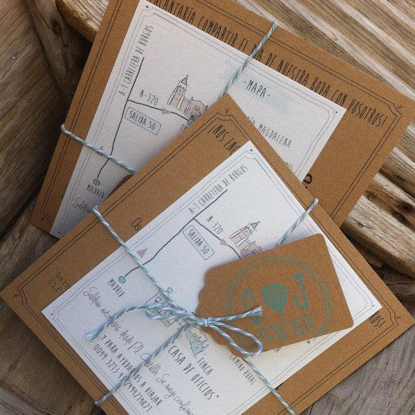 "invitaciones boda con ""toque mint"" - angelina purpurina"