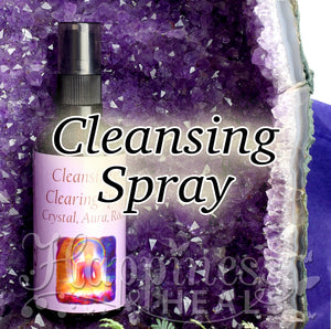 Cleansing & Clearing Spray. Crystal, Aura & Room