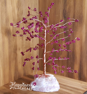 Rose Quartz Beaded Tree (Dark in Colour)