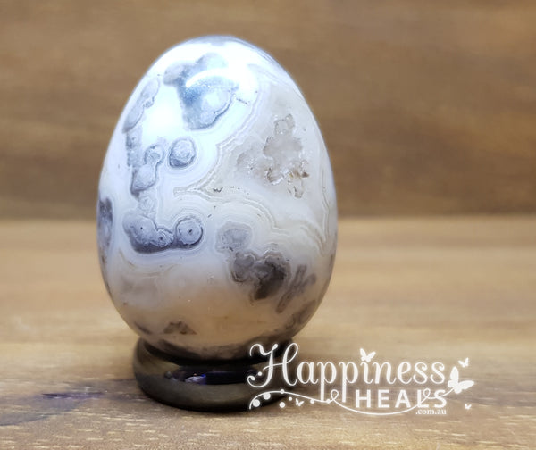 Crazy Lace Agate Egg