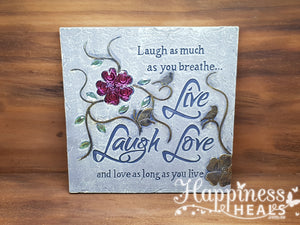 Live laugh Love Garden Plaque