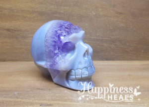 Amethyst With Agate Skull