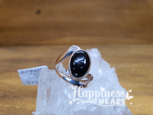 Black Tourmaline Sterling Silver Ring