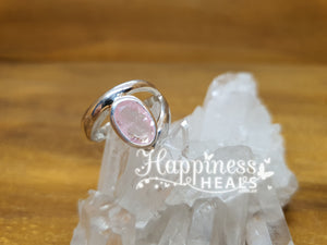Morganite Sterling Silver Ring