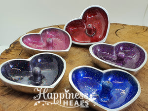 Incense Holder - Heart Metal