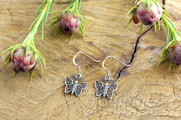 Butterfly Sterling Silver Earrings