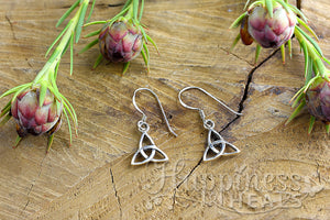 Triquetra Sterling Silver Earrings