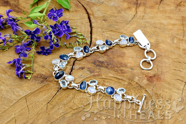 Kyanite, Blue Topaz & Moonstone Bracelet