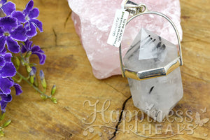 Tourmaline Quartz Double Point Pendant