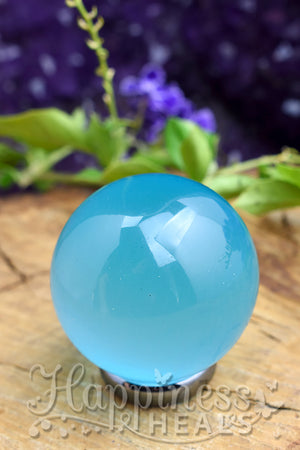 Blue Cats Eye Sphere